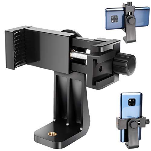 Adaptateur Trépied Smartphone, Peut être utilisé sur Un trépied 1 / 4-20, Un Monopode, Une Perche à Selfie, Convient aux Smartphones avec Une Largeur de 56mm-105 m