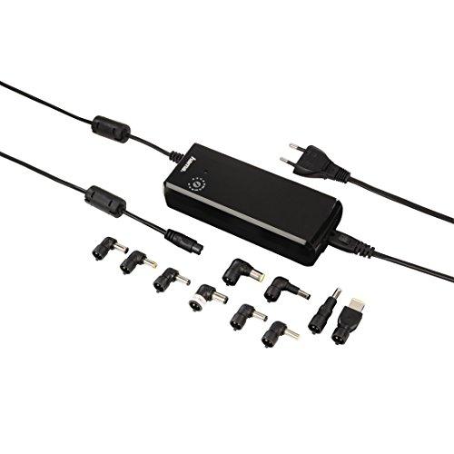Hama Universal Netzteil mit einstellbarer Ausgangsspannung (12-22 Volt, 90 Watt) inkl. 10 Adaptern, schwarz