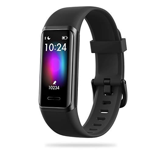 EEFINITE Fitness Tracker mit Alexa Built-in, 5ATM wasserdicht Aktivität Tacker mit Blutsauerstoff Herzfrequenz-Monitor, Schlaf Schwimmen Tracking, Smart Schritt Kalorienzähler Uhr für Frauen Männer