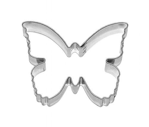 Markenlos - Cortador de galletas,  acero inoxidable, aprox. 5,7cm, diseño de mariposa