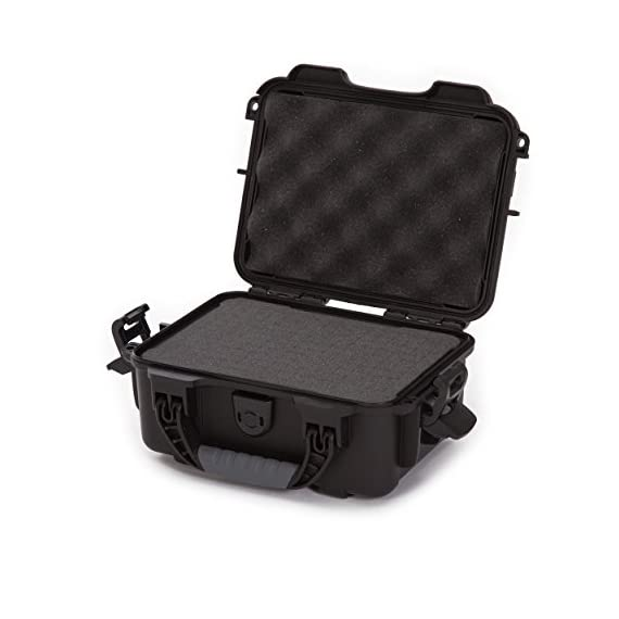 """Nanuk 904 waterproof hard case with foam insert - black 1 interior dimensions l8. 4"""" x w6. 0"""" x h3. 7"""" 