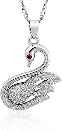 FACAIBA Necklace Woman Man Full Swan Necklace 925 Silver Pendant Necklace for Women Fashion Jewelry Comes with Holiday or Birthday Gift for Women and Girls Gift