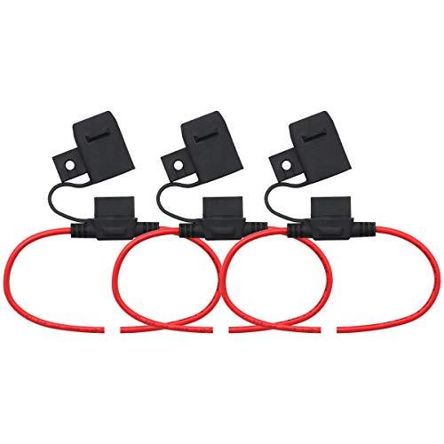 T Tocas fuse holder for E39 E37 ATO Circuit Breaker Fuse 3pcs(fuse not included)