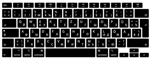 Russisch/Deutsche Silikon Abdeckung kompatibel mit MacBook Air 13.3