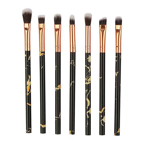 MEISINI Pinceau de maquillage Simple pinceau de maquillage pour les yeux marbré Set Ombre à paupières Lèvre Outil Grandes zones en fleurs Contour doux, noir