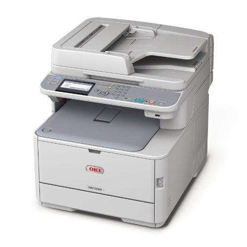 Oki MC332dn Farblaser-Multifunktionsgerät (Scanner, Kopierer, Drucker, 1200 x 600 DPI, USB 2.0) grau