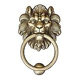 SILOLA Cabeza de Tigre Aldaba Cabeza de Bestia Cabeza de león Puerta Tirador de Cobre Mano Retro Puerta de Cobre Hebilla Manija Aldaba Decorativa para Hacer Bricolaje