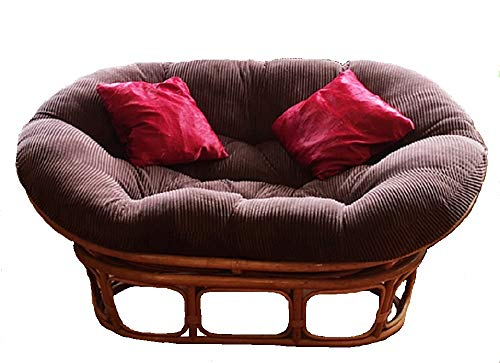 Papasans Unlimited Double Papasan Cushion with Velcro Tags - Twill Sunset Fabric