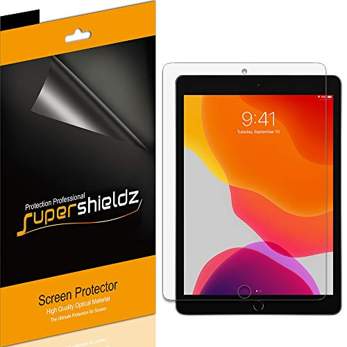 (3 Pack) Supershieldz for Apple New iPad 10.2 inch (2019, 7th Generation) Screen Protector, High Definition Clear Shield (PET)