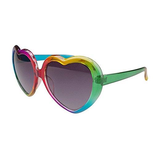 Peggy Gu Gafas de Sol de Colores en Forma de corazón para niños Gafas de Sol polarizadas de Grandes Chicas Gafas de Sol Estilo Lolita de protección UV Ambiental para Adolescentes Mayores de 14 años
