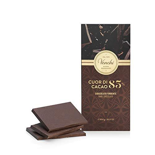 Venchi Maxi Tavoletta di Cioccolato Fondente 85% Cuor di Cacao 800g - Cioccolato Fondente Centro Sud...