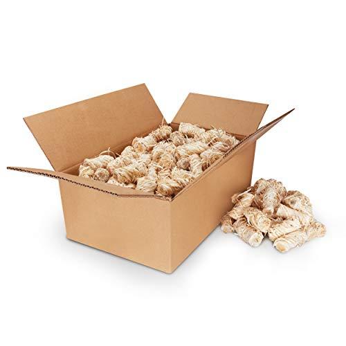 Kaminanzünder aus Bio Holzwolle mit natürlichem Wachs [3 KG] - Premium Öko Anzündwolle als Ofenanzünder, Grillanzünder, Kaminanzünder, Feueranzünder