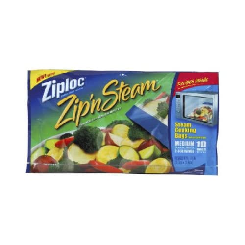 ce115975fe83 Amazon.com  ZIPLOC ZIP N STEAM BAG-MEDIUM (Pack of 2)  Industrial    Scientific