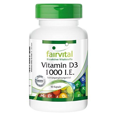 Vitamin D3 1000 I.E. - 25mcg Cholecalciferol pro Kapsel - 90 Kapseln