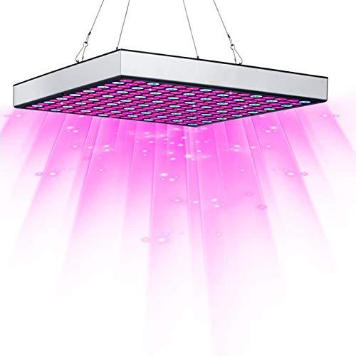 ZJWN Lámpara de Planta, 45W Lámpara de Planta Espectro Completo LED Lámpara de Cultivo de Plantas, Lámpara de Crecimiento Grow Light Indoor para siembra, Crecimiento, floración y fructificación,S