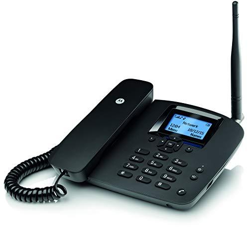 Motorola MOTOFW200L - Teléfono Fijo inalámbrico, Negro