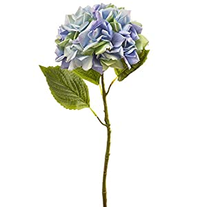 22.25″ Silk Hydrangea Flower Stem -Blue/Delphinium (Pack of 12)
