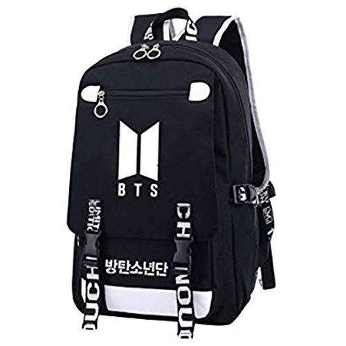 Flyself BTS Rucksack Kpop Bangtan Boys Jimin V Suga Same Style Leinwand Rucksäcke Große Kapazität Daypack Schultasche für ARMY