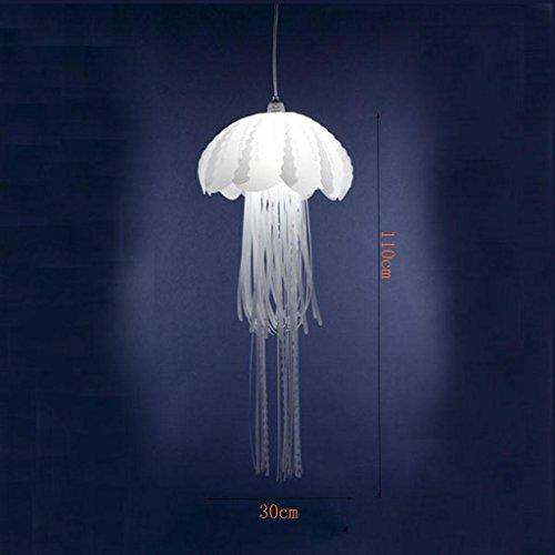 DZW Dekoration Jellyfish Lampen Postmodern Einfache LED Café Restaurant Hochzeitszeremonie Quallen Pendelleuchte Leistung 5W Größe 30 * 110cm , d 300*1100 send white -Beleuchtung Deckenleuchte Kreativ