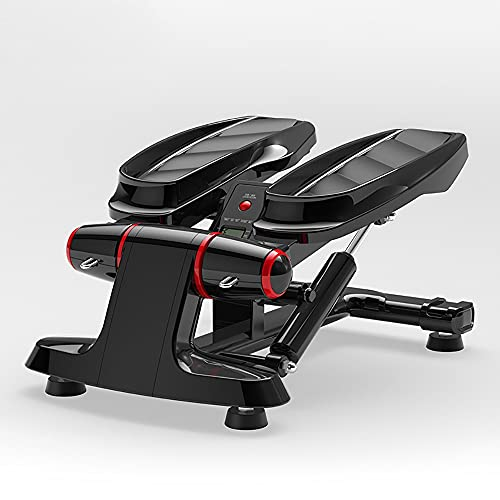 DODOBD Stepper Fitness Casa,Mini Stepper 2 en 1 con Pantalla Multifuncional y Cintas de Entrenamiento-Máquina de Step para Hacer Ejercicio de gluteos y Cardio