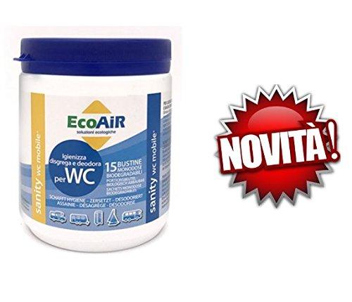 Sanity WC Poudre 15 sachets pour réservoir d'eau Noir Prince Actif Aqua Sachets - Offre pour 1 pot de 15 sachets