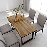 vidaXL Solid Acacia Wood Dining Table Dinner Kitchen Wooden Dinette Dining Room Table...