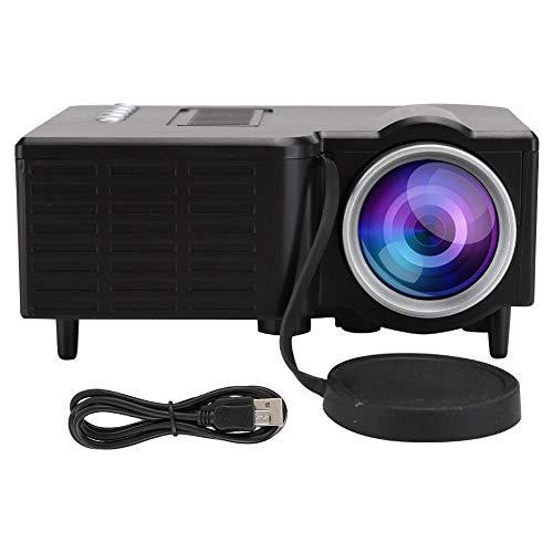 ASHATA HD TV - projector, draagbare 1080P LED - miniatuurprojector, met ventilator + aluminium radiator + wervelluchtkanaal, geschikt voor thuis, familiefilm, kantoor enz, zwart