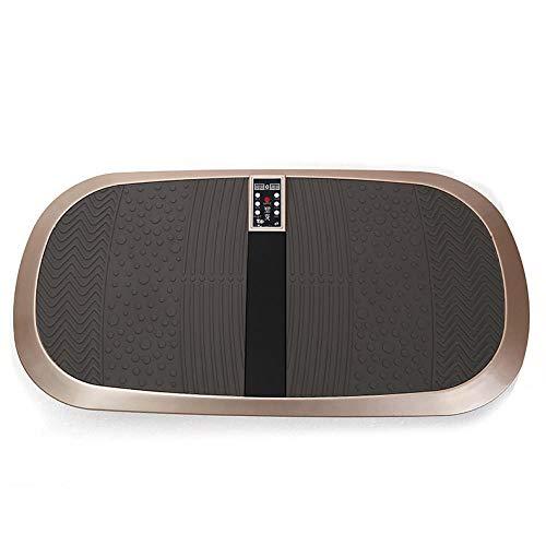 Ultra Slim Power Vibrationsplatte,Intelligente 3D-Schlankheitsmaschine, Faule Körperformungsmaschine - lokales Gold,Fitness Vibrationsplatte Fett-Verbrennung