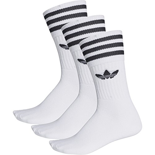 adidas Solid Crew - calcetines deportivos blanco Medium