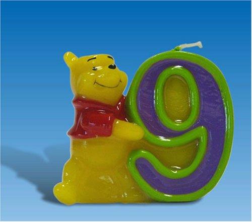 Candelina winnie the pooh n. 9
