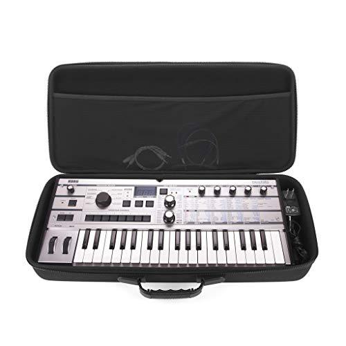 Analog Cases PULSE Case für Korg MicroKorg/MicroKorg XL+ oder vergleichbare Synthesizer (Transporttasche aus langlebigem, geformtem EVA/Nylon, erstklassiger Griff), Schwarz, NA