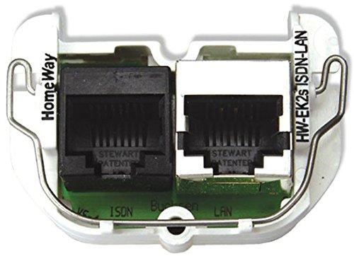 Homeway HW-EK2S LAN/ISDN Modul HAXHSM-G0200-C041 LAN 100MBit/s Einsatz für Multifunktions-Anschlussdose 4250679711271