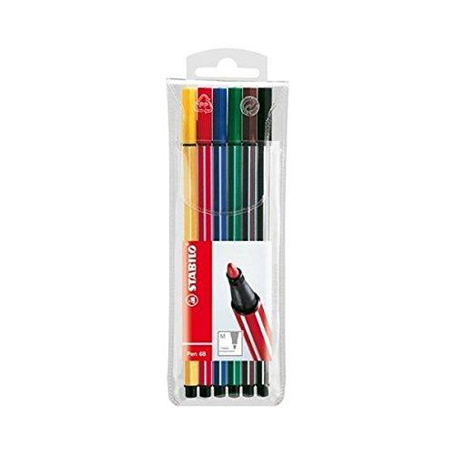 STABILO Pen 68Marker–(Multicolor, Blau, Grün, Orange, Pink, Rot, Gelb, Tinte auf Wasserbasis)