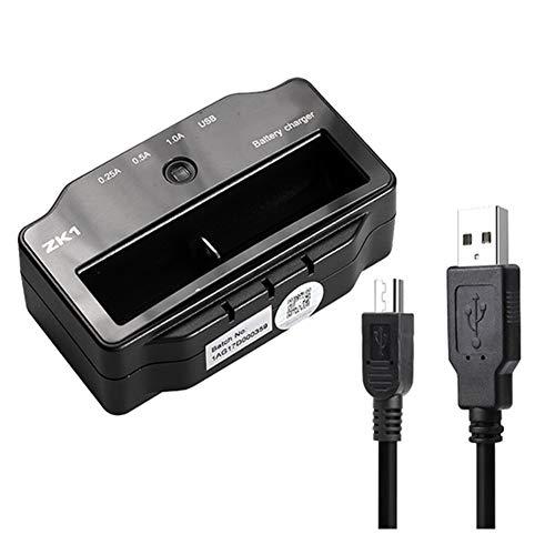 MARXIAO Cargador de batería Inteligente de una Ranura, USB Recargable Cargador de batería de Litio portátil para batería de Litio Hidruro de níquel Batería Recargable de níquel cadmio