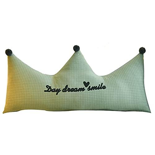 Cojines De Algodón Espalda Grande Princesa Cabecera para Dormitorio Habitación Infantil Tatami Relleno De Algodón Perlado Forma De Corona
