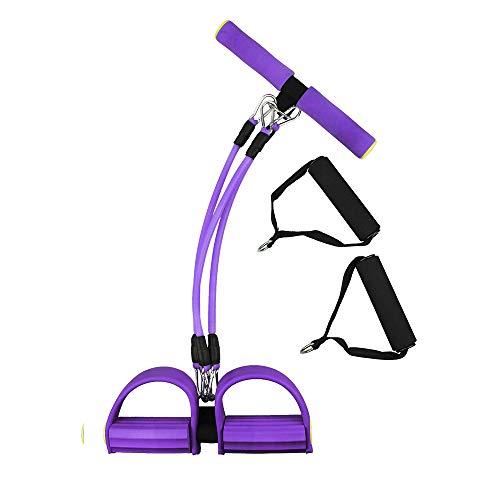 Corda elastica per esercizi con pedale e manici in schiuma, per esercizi di bodybuilding, dimagrante, per addominali, braccia, gambe, yoga, pilates, stretching, allenamento