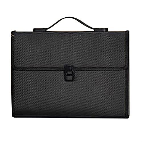 Portable Accordion Expanding File Folder Document Organizer Portfolio Holder 13 Pockets A4 Size Large Capacity Filing Bag (Color : E)