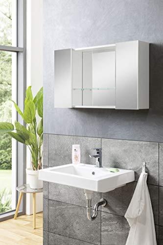 BMG Möbel Badschrank Spiegelschrank Badezimmerspiegelschrank Solo 85 cm
