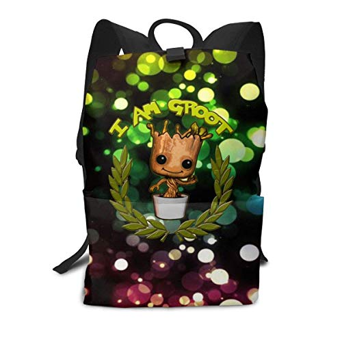 Homebe Rucksäcke,Daypack,Schulrucksack Für Jungen und Mädchen, I Am Groot School College Bookbag for Girls Boys Fashion Travel Back Pack