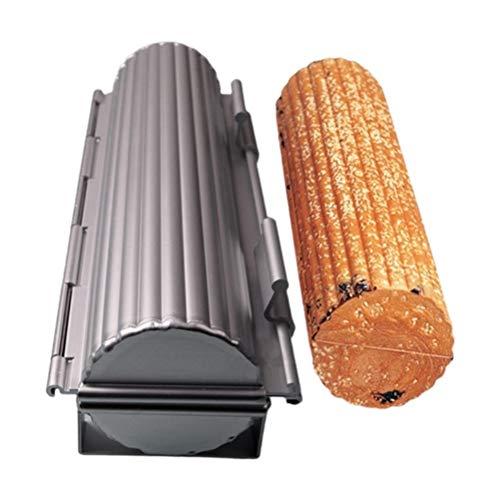 YEKKU Brotform, französische Brotbackform, Brot, Toast, Kastenform, Baguette, Aluminium-Legierung, Clamshell antihaftbeschichtet, Küchenwerkzeug, geriffelte Toastform