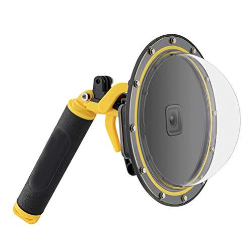 KENANLAN Dome Hafen für GoPro Hero 9 Schwarz, Diving Transparent GoPro Dome Objektiv Wasserdichtes Gehäuse mit schwimmendem Handgriff Unterwassergehäuse für GoPro Zubehör