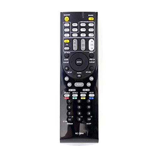 vinabty RC-799M RC799M Ersatzfernbedienung für ONKYO ONKYO ONKYO AV HT-R391 HT-R558 HT-R590 HT-R591 HT-S5500 RC-834M RC-812M RC-801M RC-803M für Haushaltsfernseher Zubehör