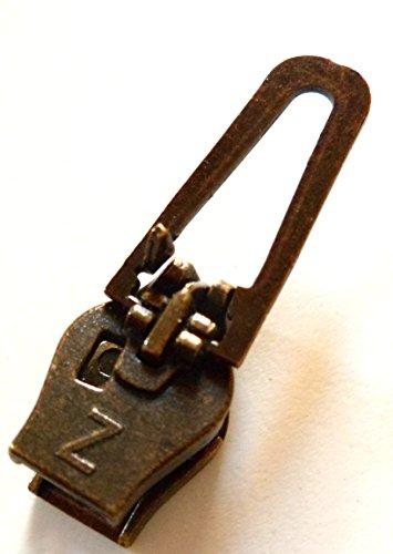 ZlideOn Zipper 5C Altmessing für Reißverschluss Spiral - Reißverschluss