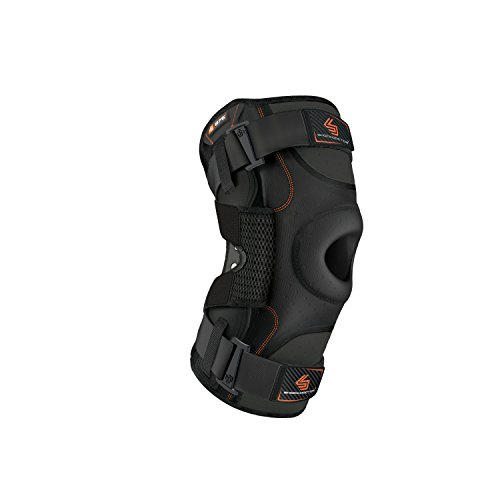 Hinged Knee Brace: Shock Doctor Maximum Support Compression Knee Brace - For ACL/PCL Injuries, Patella Support, Sprains, Hypertension and More for Men and Women - (1 Knee Brace, XLarge) , Black