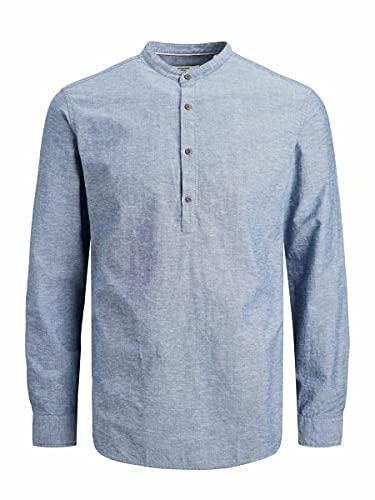 Jack & Jones Jprblasummer Band Tunic Shirt L/S STS Manches Longues, Denim Faded/Coupe : Slim, XL Homme
