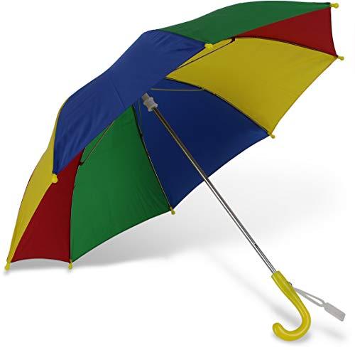 Paraplu voor kinderen Multicolor kinderparaplu, licht en stabiel met veiligheidsopening, lengte: 56 cm; diameter: 70 cm