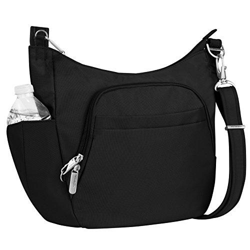 Travelon Anti-Theft Cross-Body Bucket Bag, Black, One Size
