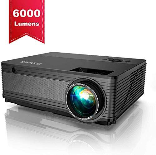 YABER Projector 6000 Lumen 1080P Native LED Projector Full HD Support 4K 1920 x...