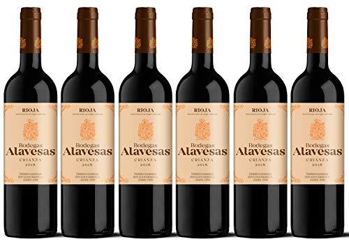 Bodegas Alavesas Vino Tinto Crianza 2018. D.O.CA. Rioja. Lote de 6 botellas x 75cl