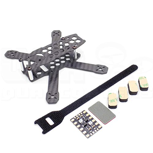 USAQ GT130 130mm Micro FPV Racing Drone Frame for 3' Props Carbon Fiber Unibody with Accessories
